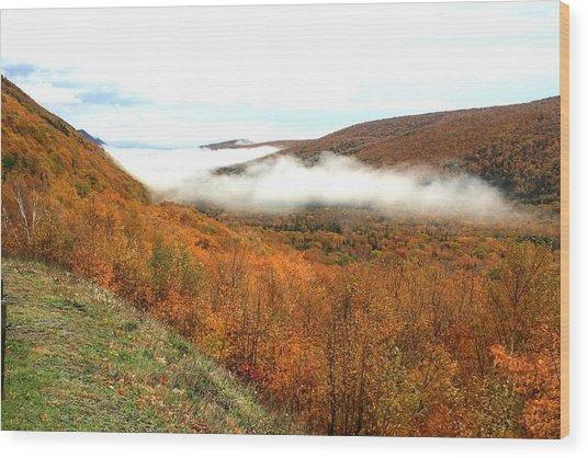 Thick Fog Wood Print