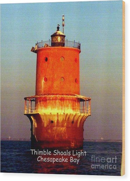 Thimble Shoals Light Wood Print