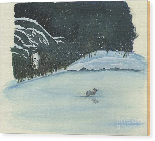 Thin Ice Wood Print