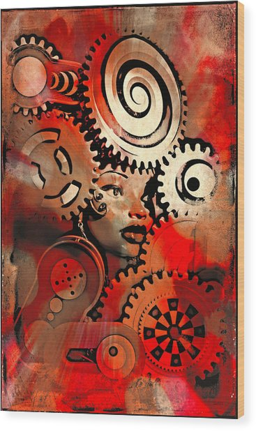 Thinking Cap 2 Wood Print