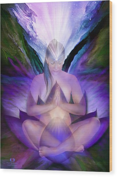 Third Eye Chakra Goddess Wood Print
