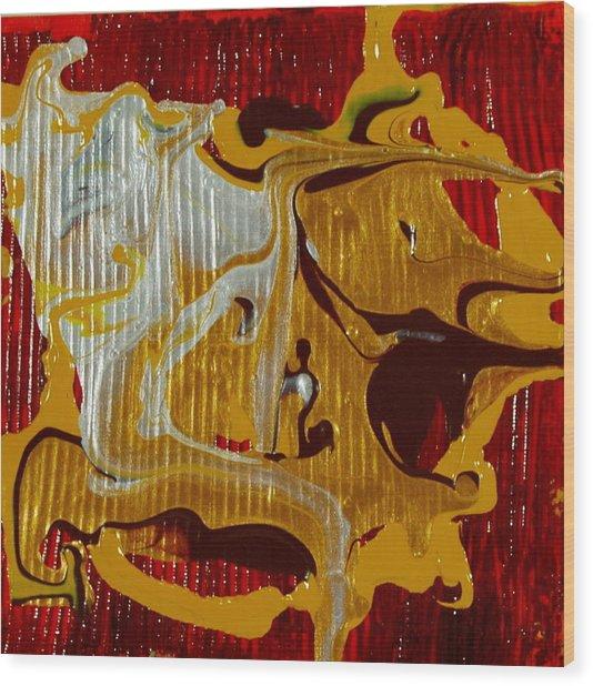 This Masquerade Wood Print