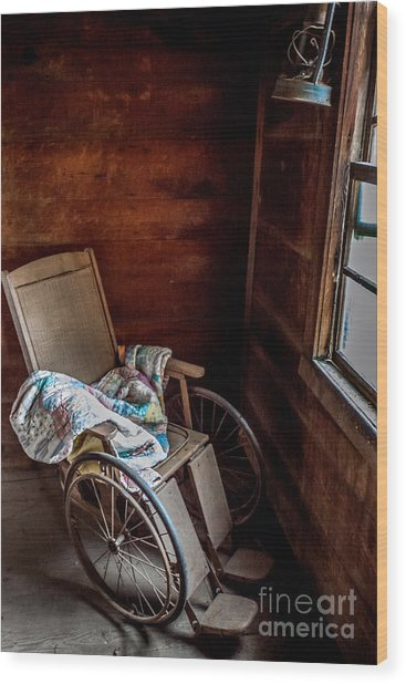 Wheelchair With A View Wood Print