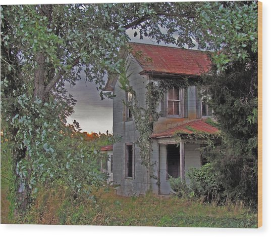 This Old House Wood Print by Trish Clark
