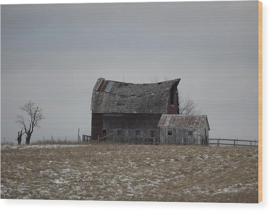 Thomas Hill Barn Wood Print