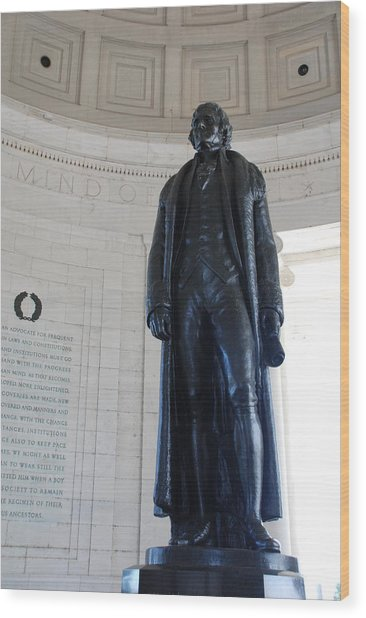Thomas Jefferson Statue Wood Print