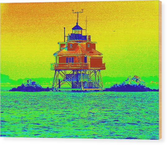 Thomas Point Lighthouse Wood Print