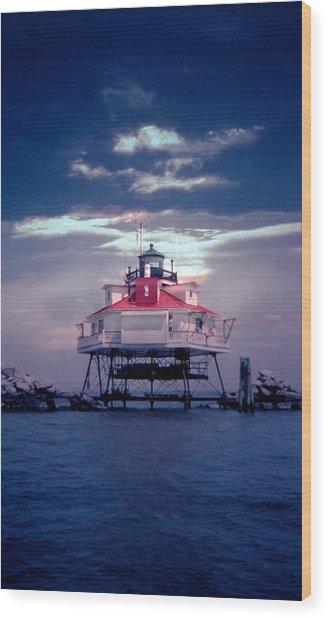 Thomas Pt.  Shoal Lighthouse Wood Print