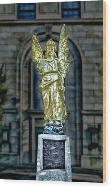 Thomas Wolfe Memorial Angel Wood Print