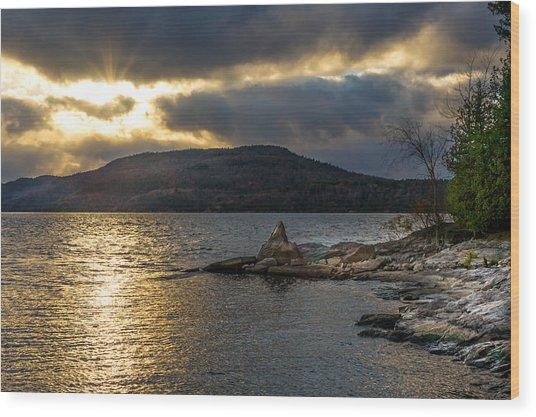 Thompson Point Sunset Wood Print