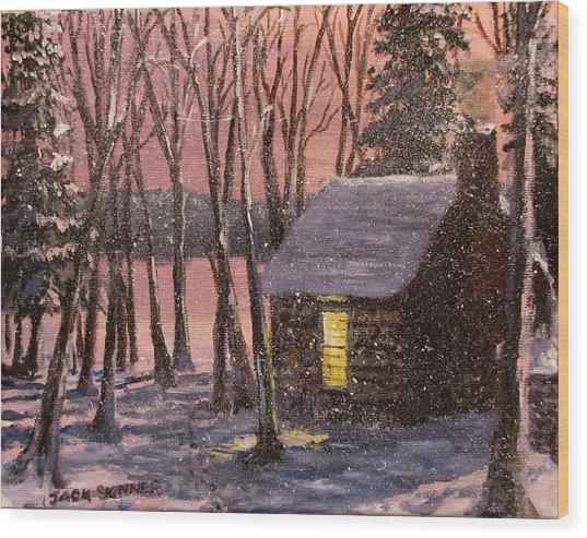 Thoreau's Cabin Wood Print