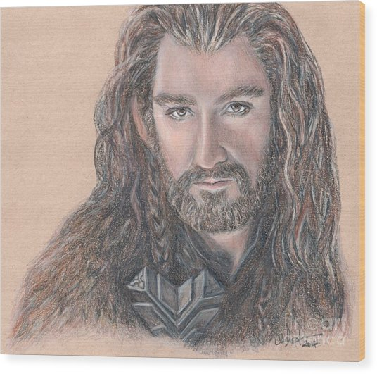Thorin Oakenshield Wood Print