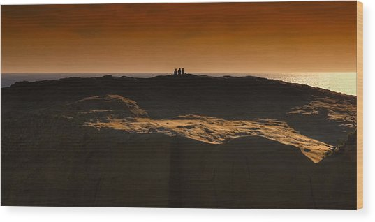 Three At Sunset Wood Print