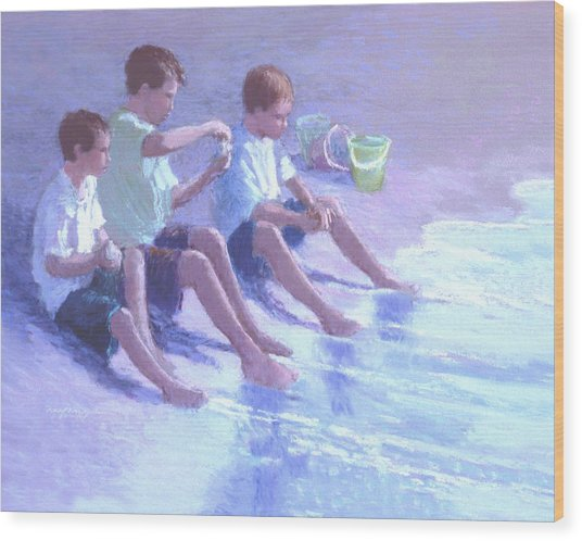 Three Beach Boys Wood Print