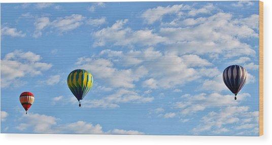 Three Beautiful Balloons In Cortez Wood Print
