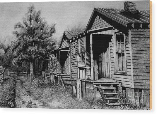 Three Graces Black And White Wood Print