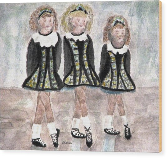 Three Irish Lasses Wood Print
