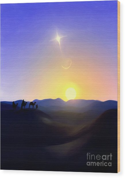 Three Kings Comet Wood Print