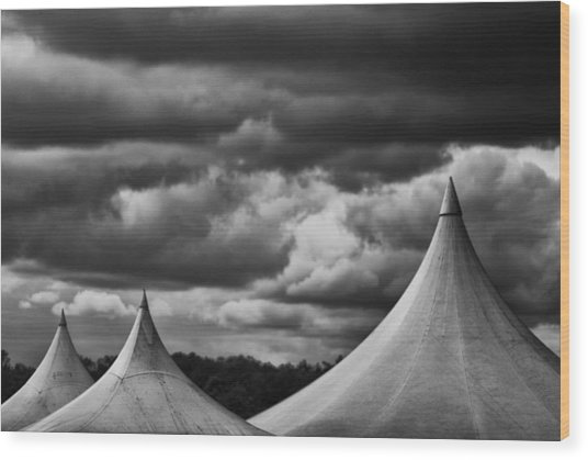 Wood Print featuring the photograph Three Peaks by Adrian Pym