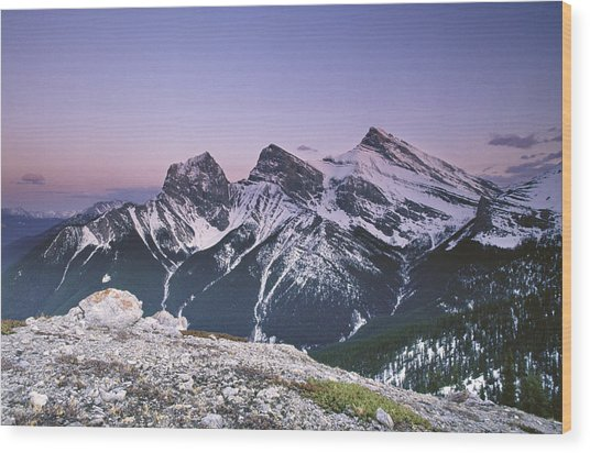 Three Sisters At Twilight Wood Print by Richard Berry