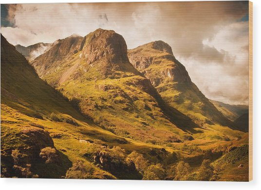 Three Sisters. Glencoe. Scotland Wood Print