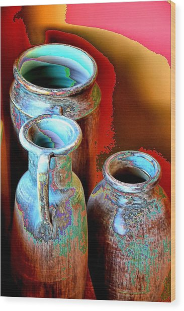 Three Urns Wood Print