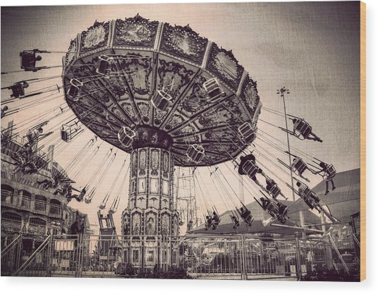 Thrill Rides Wood Print