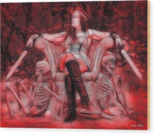 Throne Of Blood Wood Print