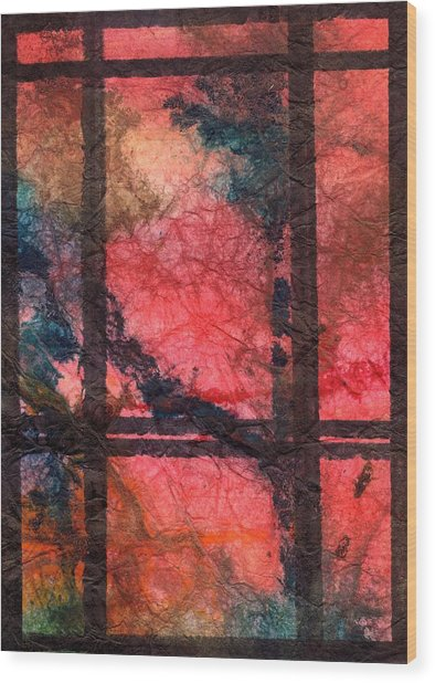 Through My Window 21 Wood Print
