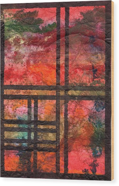 Through My Window 22 Wood Print