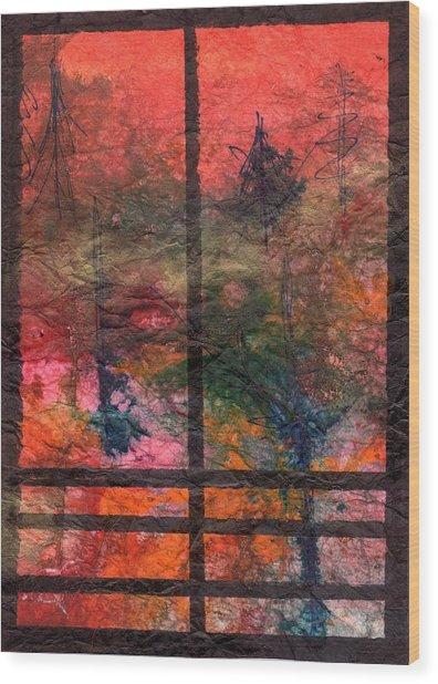 Through My Window 24 Wood Print