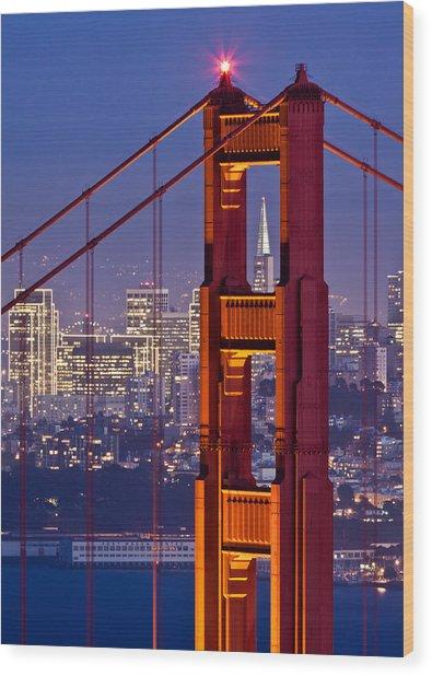 San Francisco Through The Letterbox Wood Print