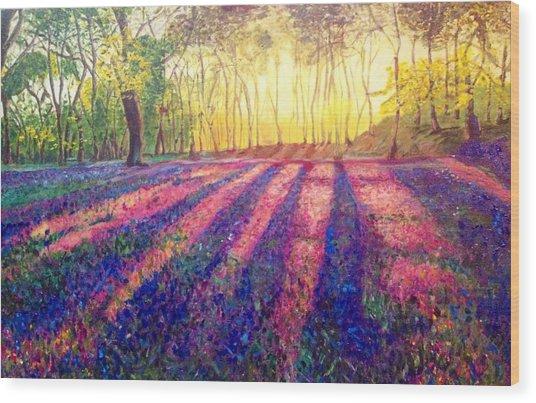 Through The Light Wood Print