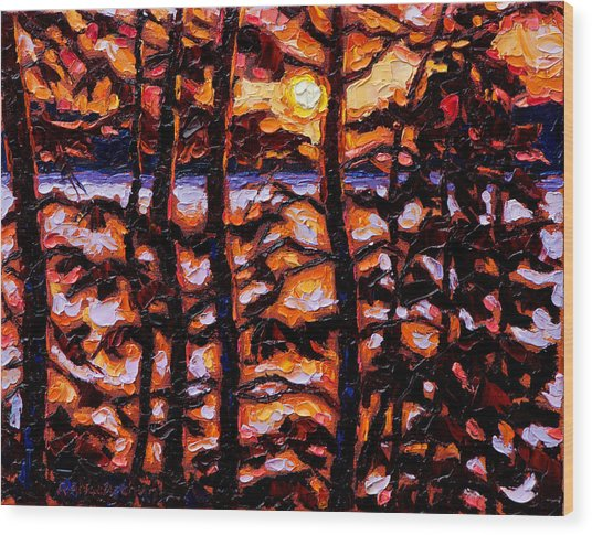Through The Trees Wood Print by Rob MacArthur
