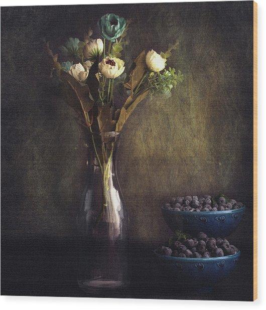 Through The Window Wood Print by Farid Kazamil