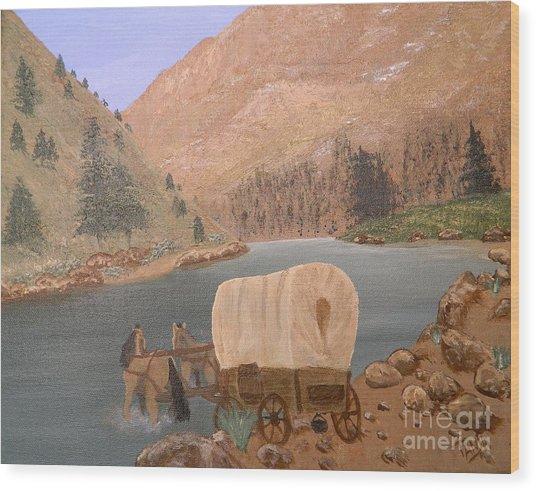 Thru The Pass Wood Print