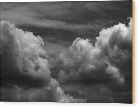 Thunder Clouds Wood Print