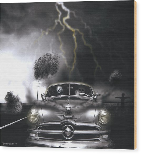 Thunder Road Wood Print by Larry Butterworth