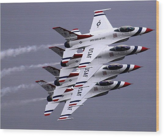 Thunderbirds At Salinas Air Show Wood Print