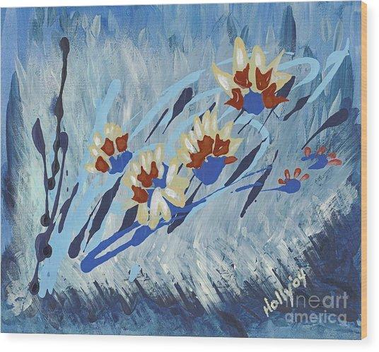 Thunderflowers Wood Print