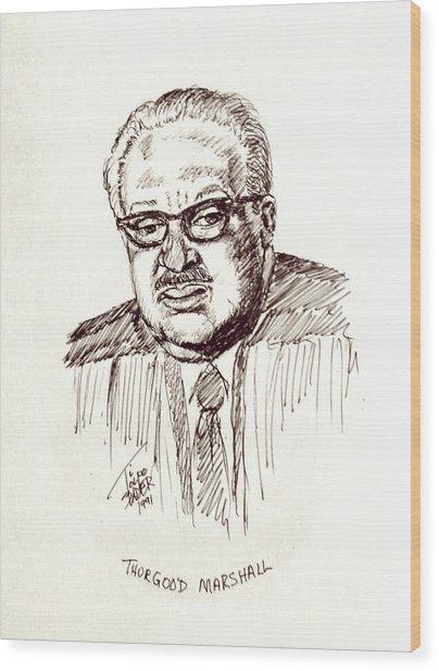 Thurgood Marshall Wood Print