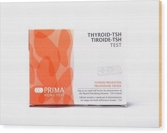 Thyroid Function Home Test Kit Wood Print by Cordelia Molloy