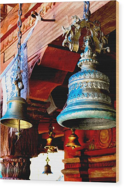 Tibetan Bells Wood Print