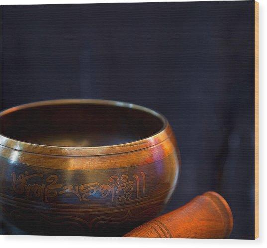Tibetan Singing Bowl Wood Print