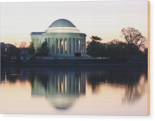 Tidal Basin Sunrise Wood Print