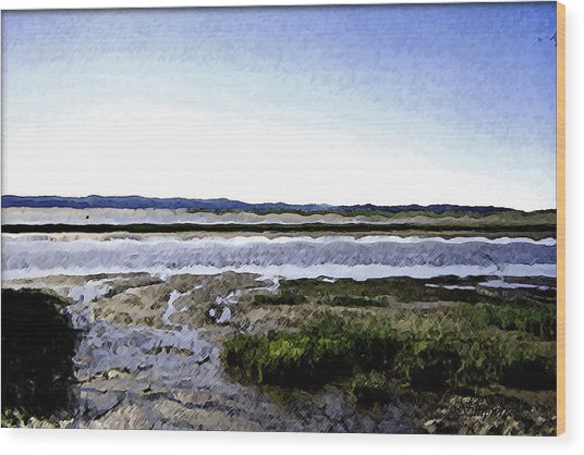 Tidal Flats Wood Print by Christopher Bage