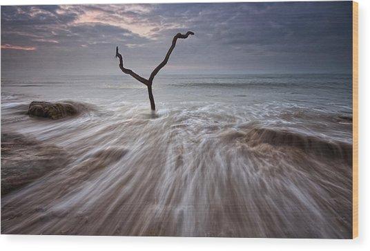 Tidal Rush Wood Print by Mark Leader