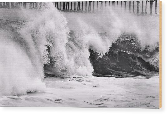 Tides Will Turn Bw By Denise Dube Wood Print