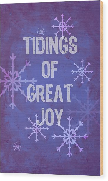 Wood Print featuring the painting Tidings Of Great Joy by Jocelyn Friis