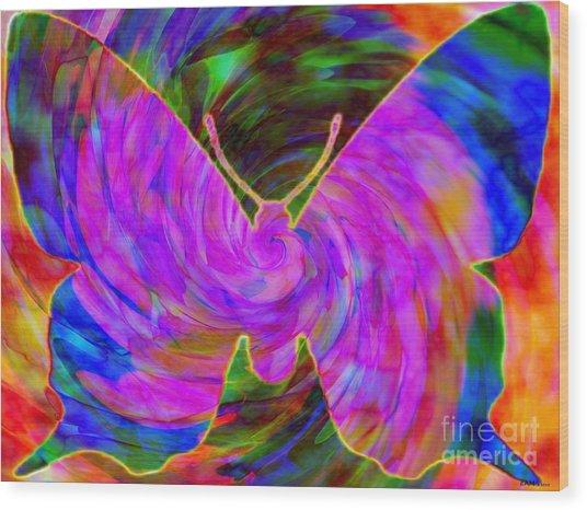 Tie-dye Butterfly Wood Print